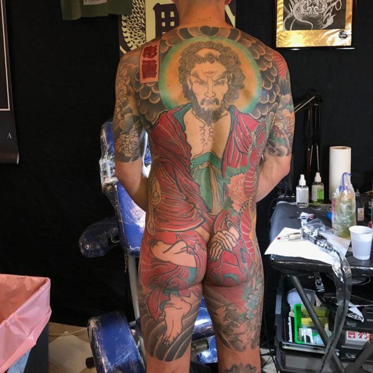 Back Samurai Yakuza Tattoo