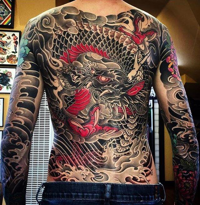 Big Dragon Yakuza Tattoo