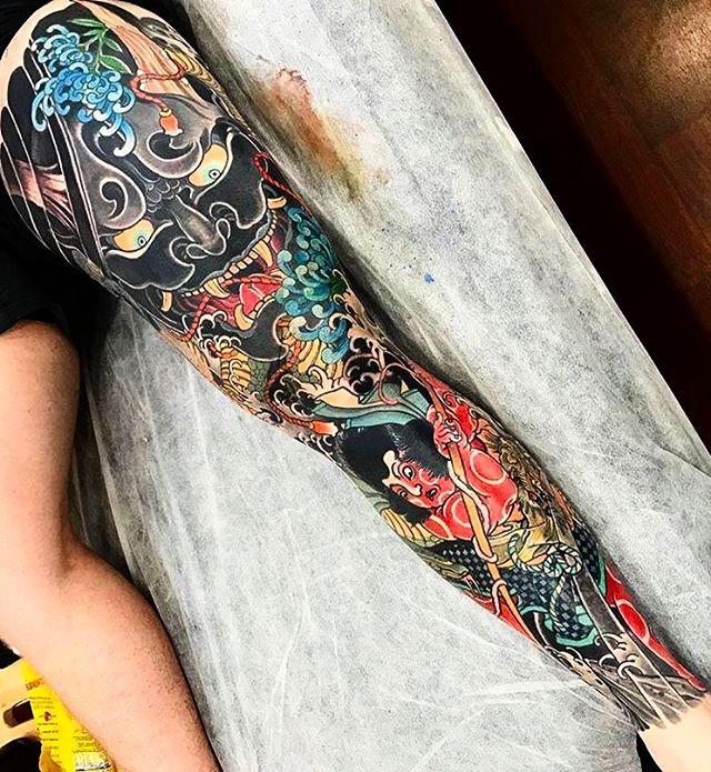 Leg Yakuza Sleeve Tattoo Kintaru Demon