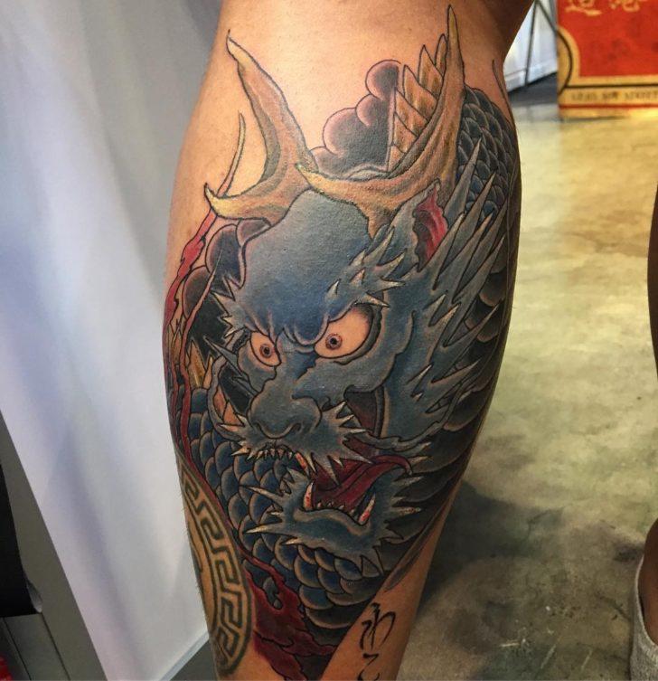 Traditional Blue Dragon Tattoo Irezumi