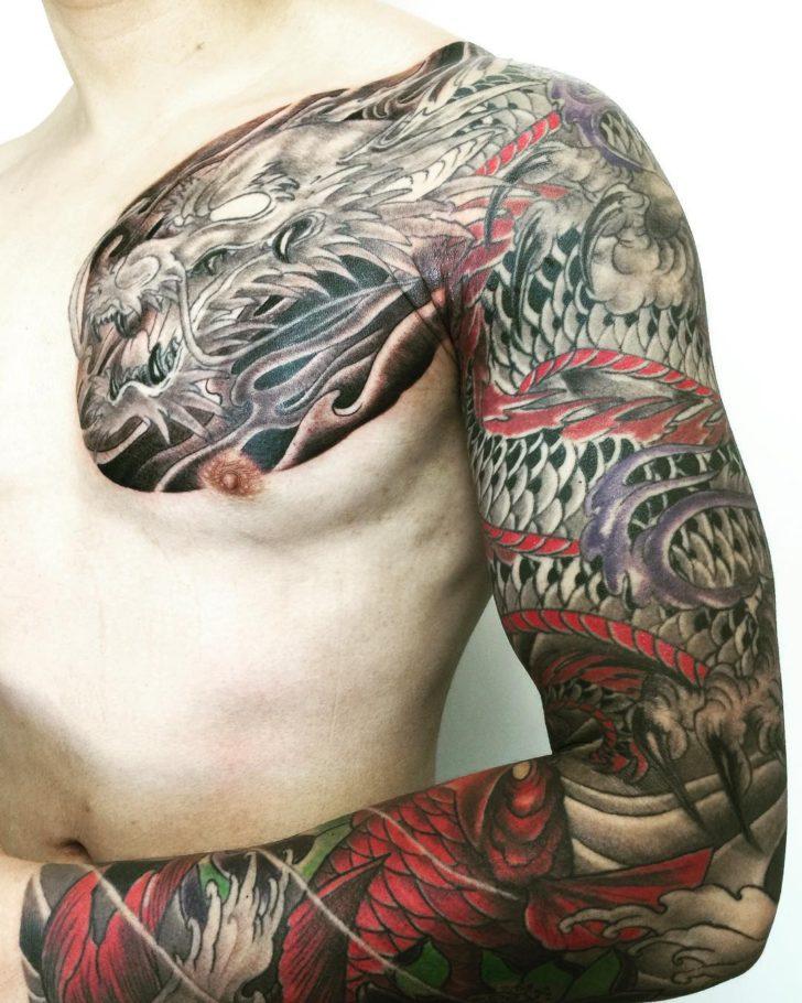 Contemporary Yakuza Style Tattoo