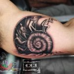 Abstract Shell Tattoo