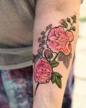 Alcea Rose Tattoo