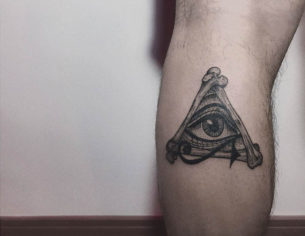 Bone Triangle Eye Tattoo
