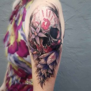 Colorful Skull Tattoo Designs