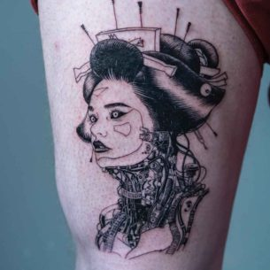 Cyber Geisha Tattoo