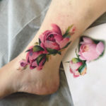 Flower Tattoo Ankle