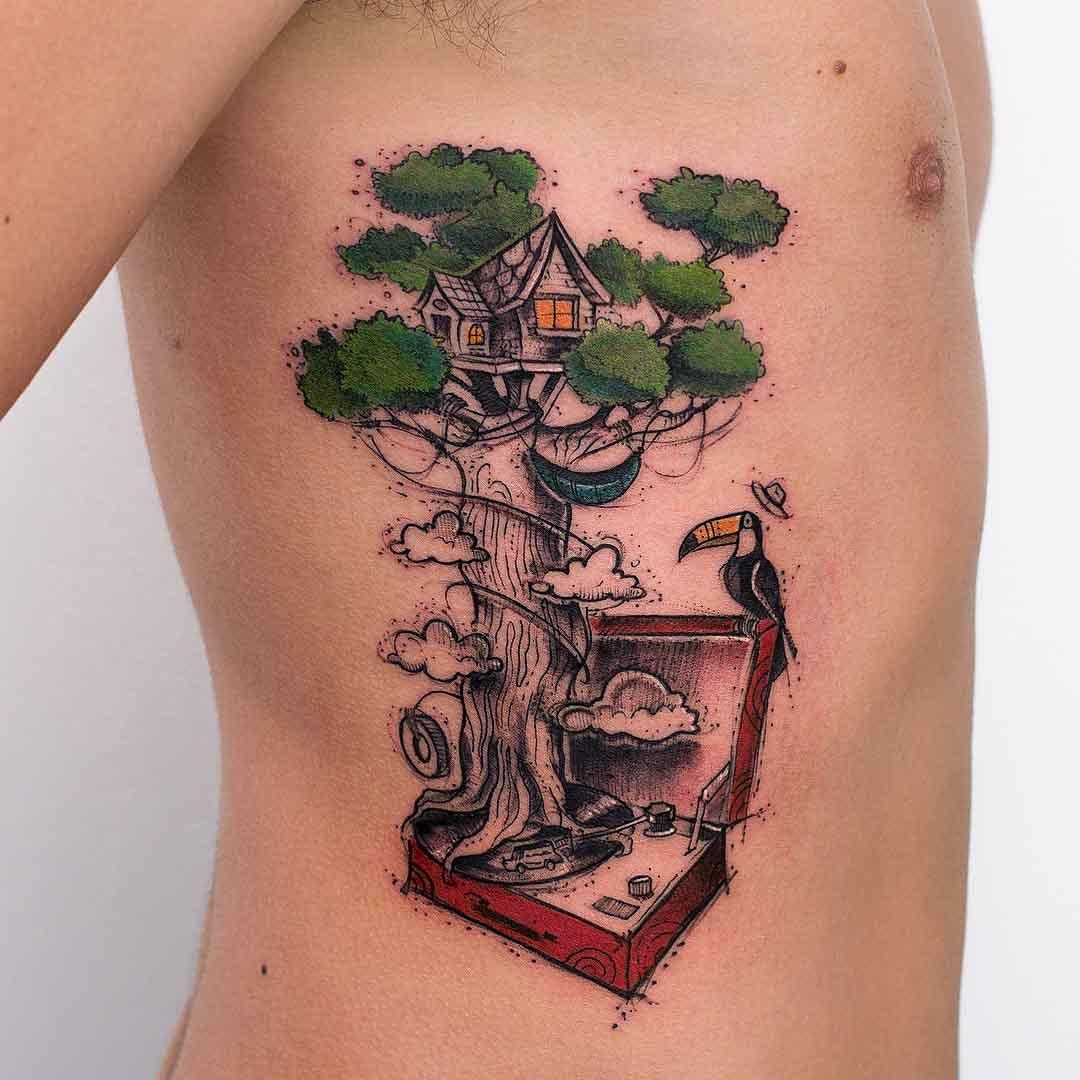 ribs tattoo tree fantastic