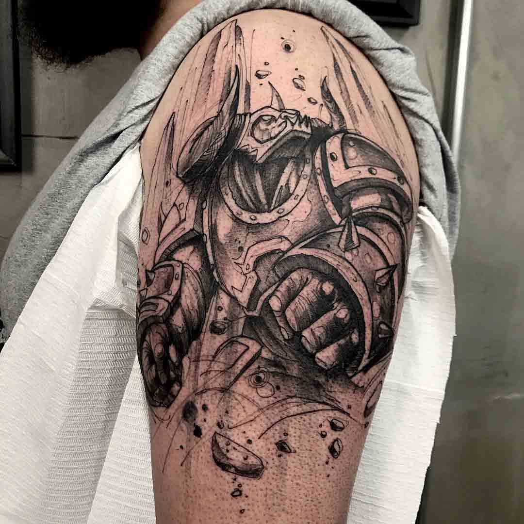 league of legends tattoo on shoulder alistar