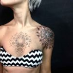Mandala Tattoos on Shoulder and Chest