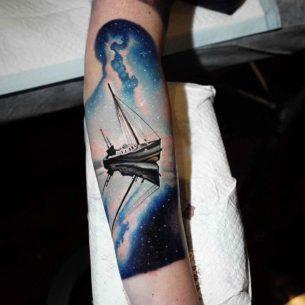 Night Ship Tattoo