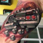 Nintendo Gamepad Tattoo