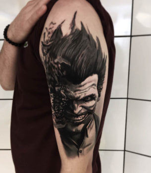 Shoulder Joker Tattoo