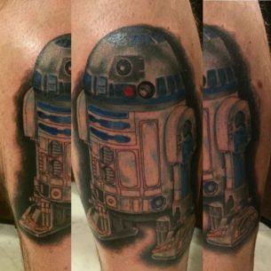 Watercolor R2D2 Tattoo