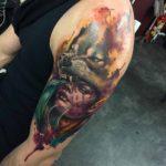 Werewolf Tattoo Girl