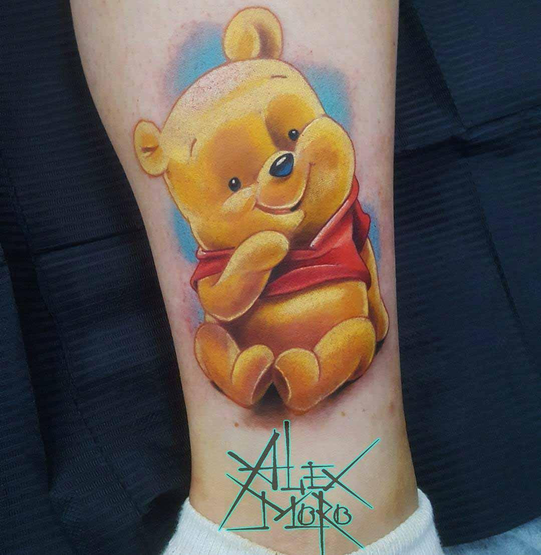cute tattoo winnie the pooh