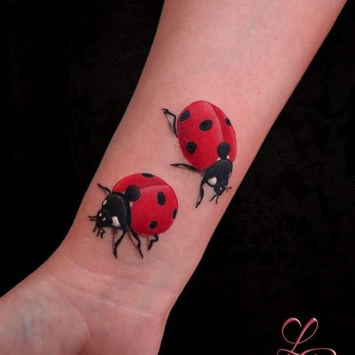 Two Ladybugs Tattoo