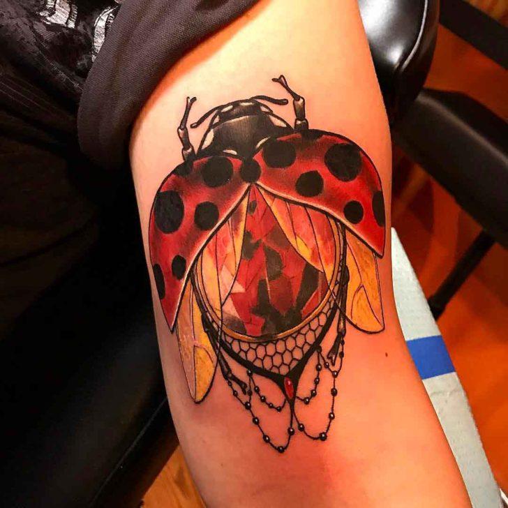 Ruby Ladybug Tattoo