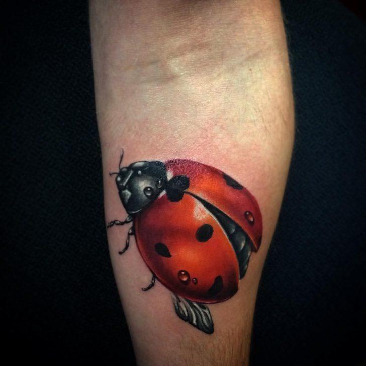 Waterdrops Ladybug Tattoo