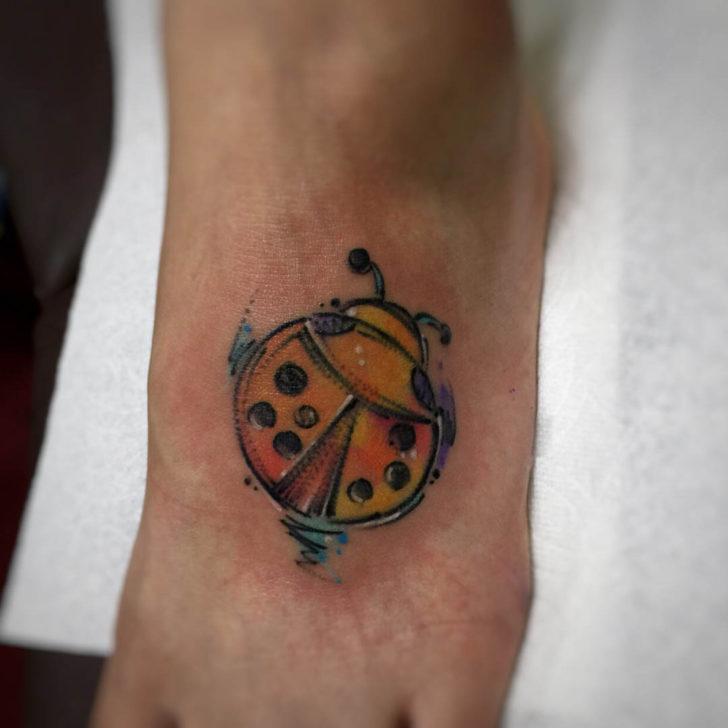 Foot Tattoo Ladybug
