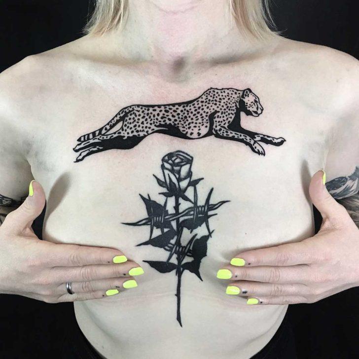 Running Cheetah Tattoo
