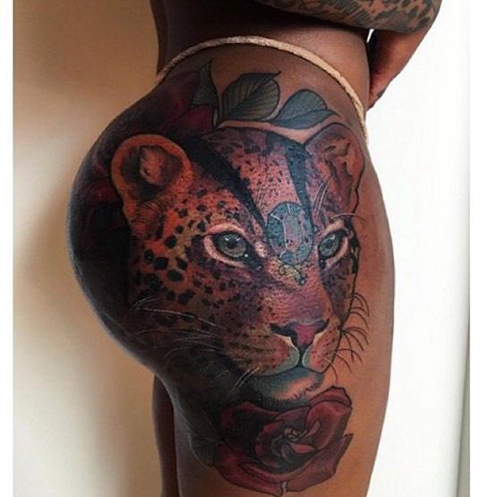 Hip Tattoo Cheetah