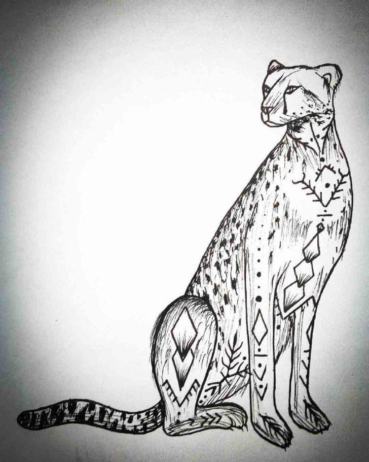 Cheetah Tattoo Design