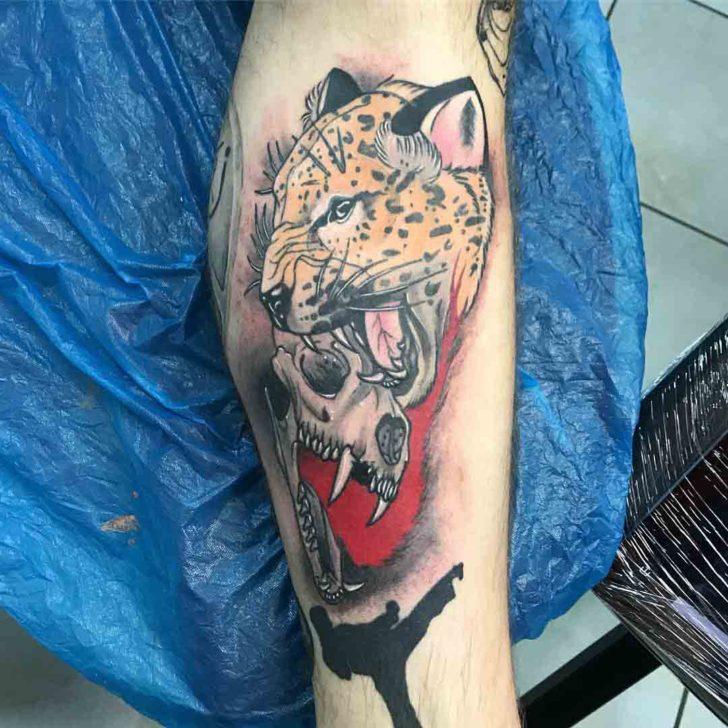Cheetah Skull Tattoo