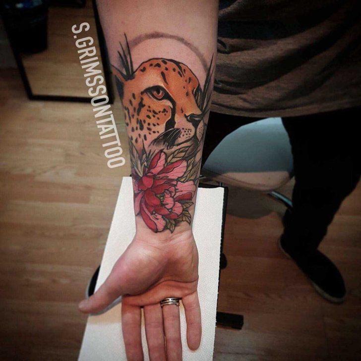 Arm Cheetah Tattoo