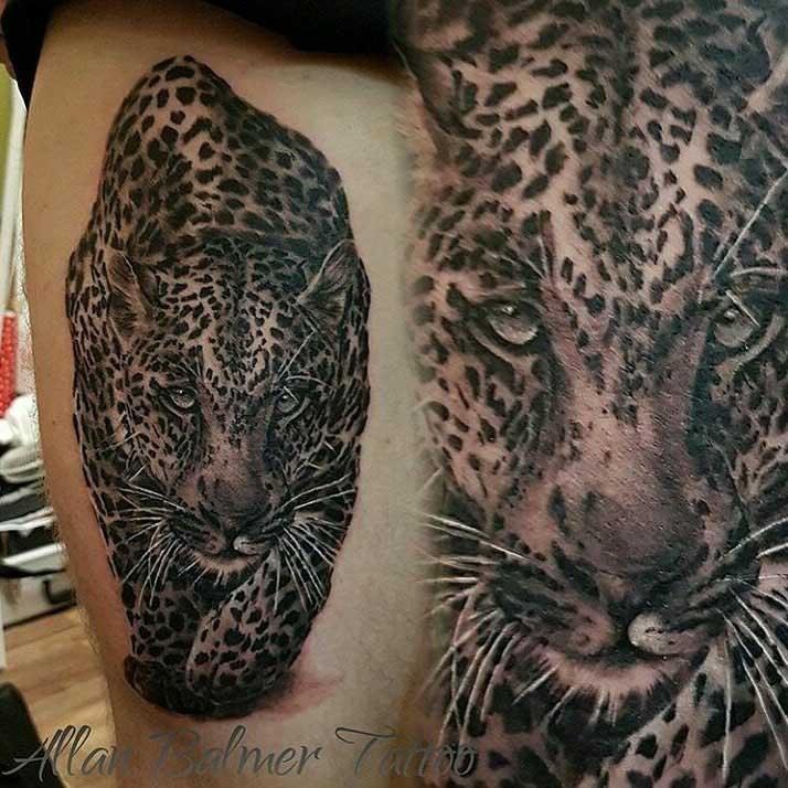 Crawling Cheetah Tattoo