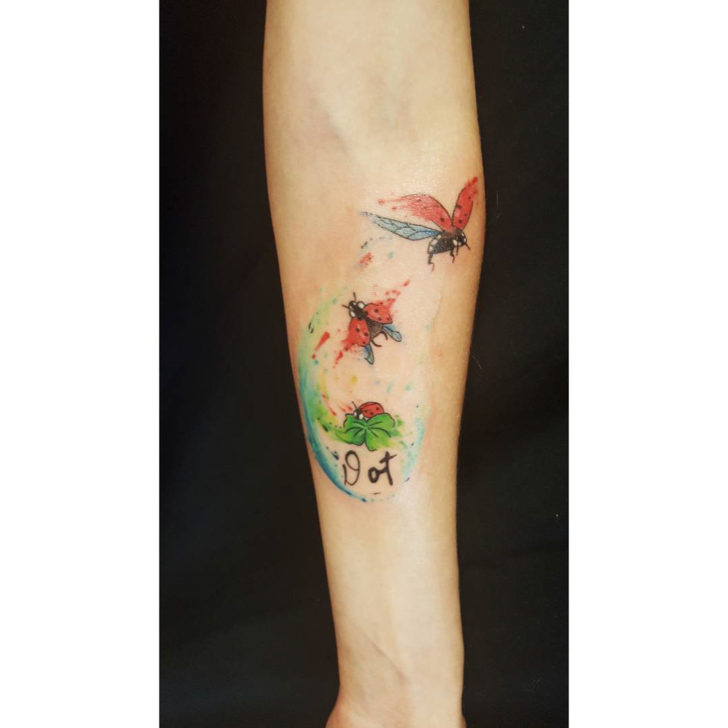 Schematic Ladybug Flight Tattoo