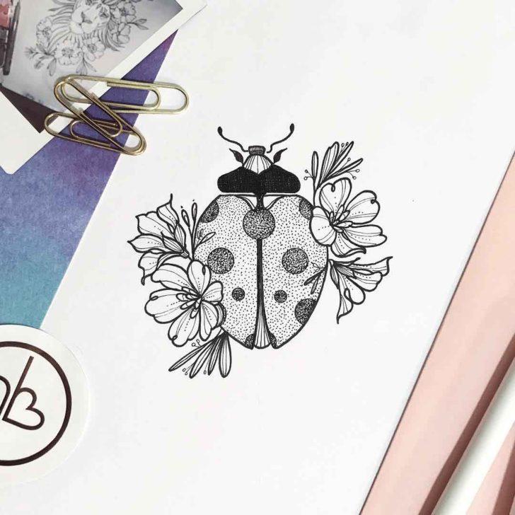 Ladybug Tattoo Design