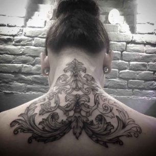 Back Nape Tattoo Baroque