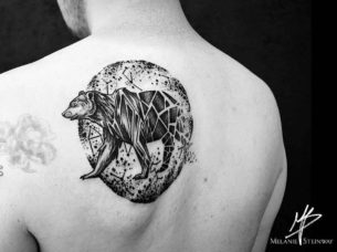 Bear Tattoo on Back