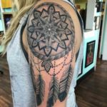 Big Dreamcatcher Tattoo on Shoulder
