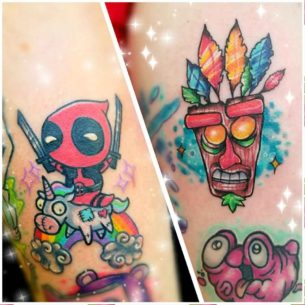 Colorful Small Tattoos