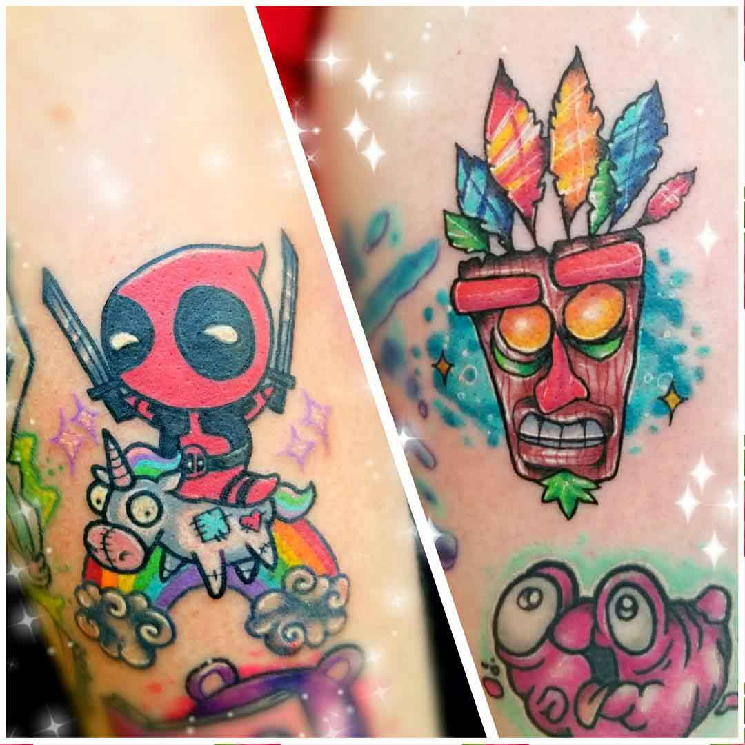 small new school tattoos