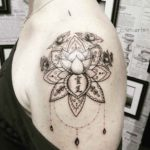 Cool Lotus Tattoo on Shoulder