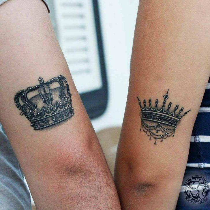 couple tatoos crowns