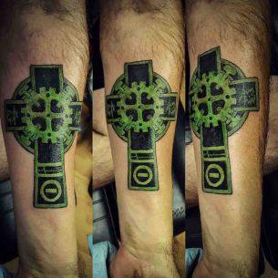 Custom Cross Tattoo