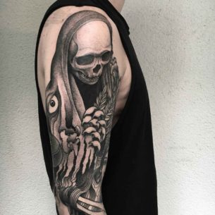 Death Tattoo on Shoulder