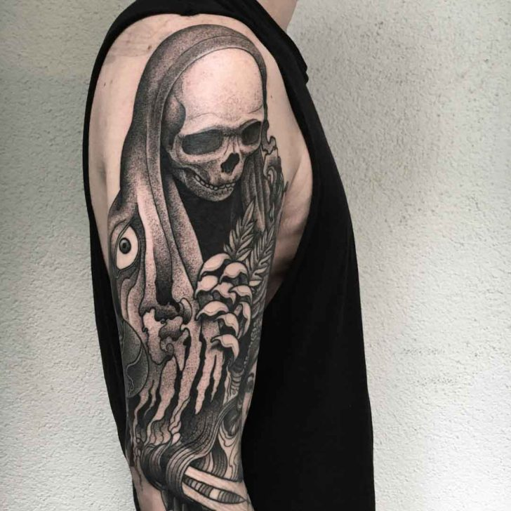 shoulder tattoo death