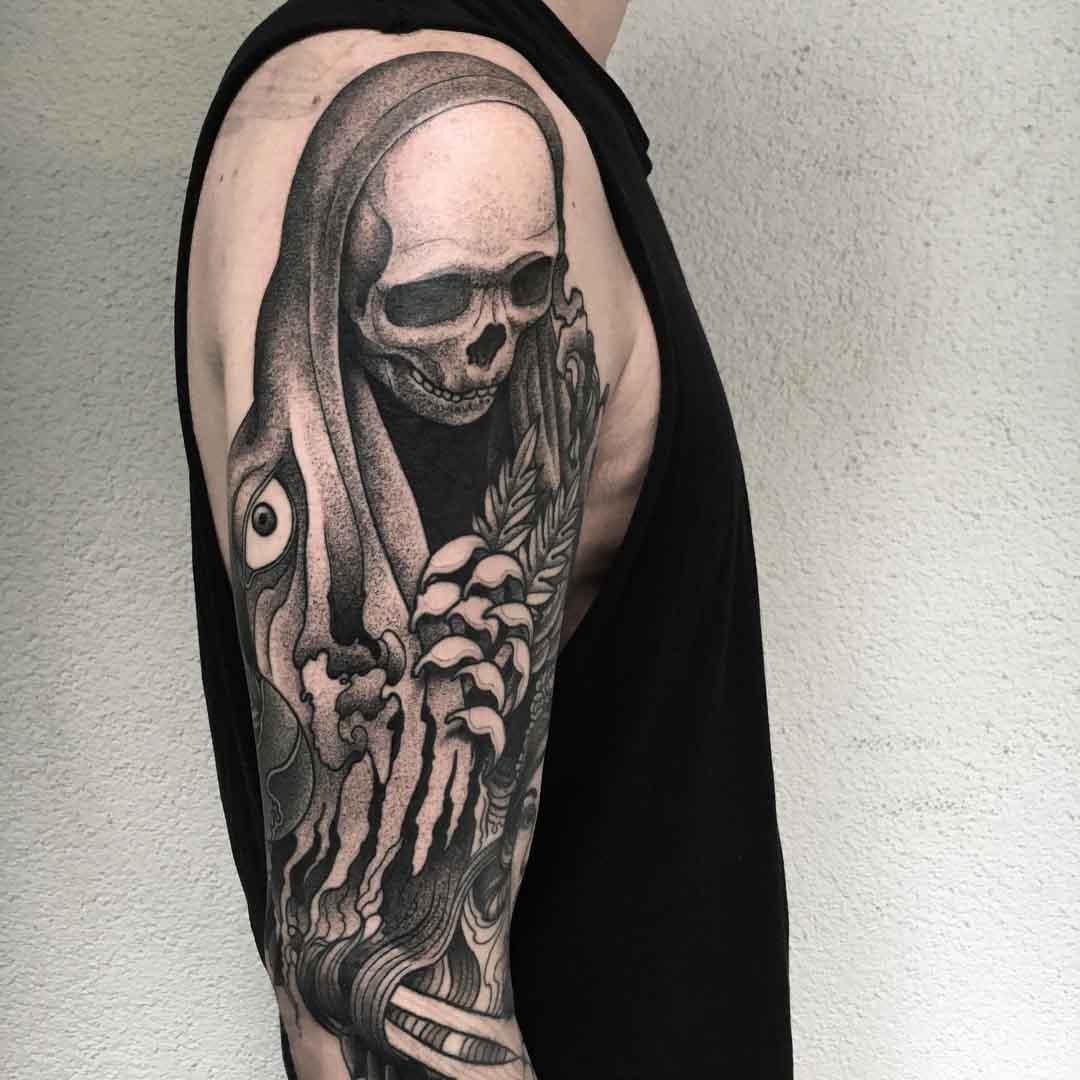 shoulder tattoo death
