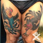 Fighting Rooster Tattoo