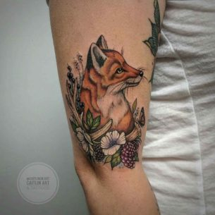 Fox Tattoo in Berries