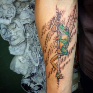 Frog Tattoo on Arm