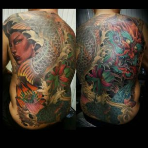Full Japanese Back Tattoo