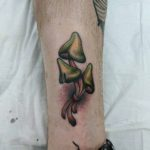Mushrooms Tattoo on Ankle
