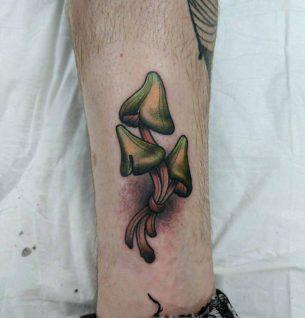 Mushrooms Tattoo on Ankle