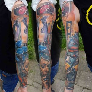 Nuclear Winter Tattoo Sleeve